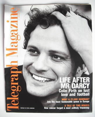 <!--1997-01-11-->Telegraph magazine - Colin Firth cover (11 January 1997)