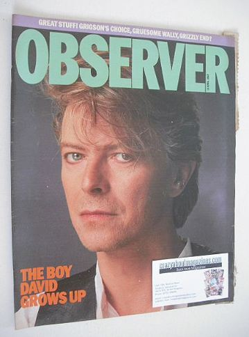 <!--1987-04-12-->The Observer magazine - David Bowie cover (12 April 1987)