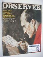 <!--1974-01-06-->The Observer magazine - Sherlock Holmes cover (6 January 1974)