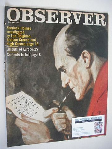 <!--1974-01-06-->The Observer magazine - Sherlock Holmes cover (6 January 1