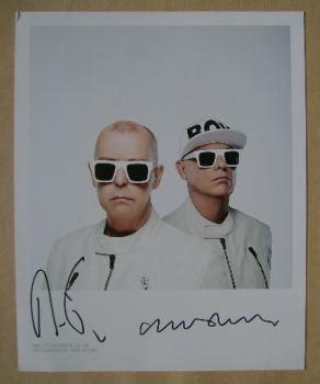 Pet Shop Boys autographs