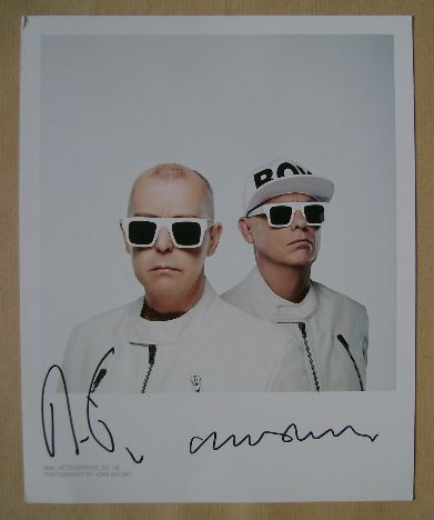Pet Shop Boys autographs