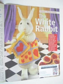 The White Rabbit toy knitting pattern (designed by Alan Dart)