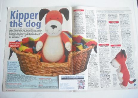 Kipper the dog toy knitting pattern (designed by Alan Dart)