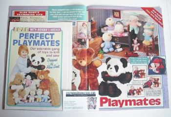 Perfect Playmates toys to knit and sew (designed by Alan Dart)
