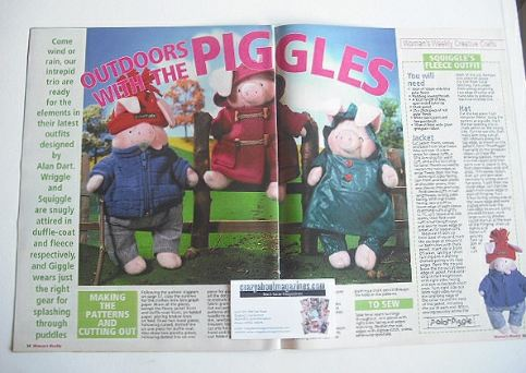 The Piggles outdoor outfits to sew (designed by Alan Dart)