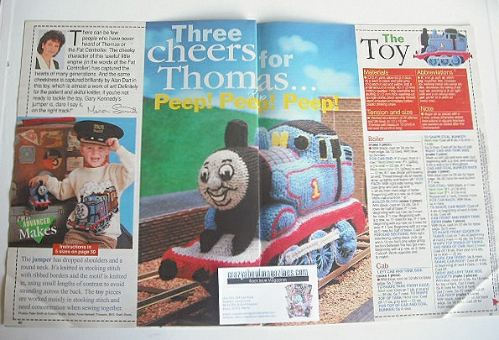 Thomas The Tank Engine toy and sweater to knit (by Alan Dart and Gary Kenne