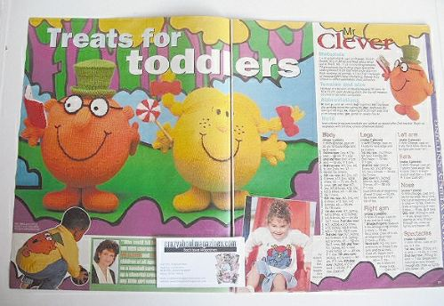 Mr Men and Little Miss toys and sweaters to knit (by Alan Dart and Gary Ken