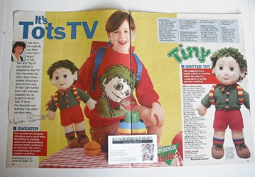 Tots TV Tiny knitted toy and sweater (by Alan Dart and Gary Kennedy)