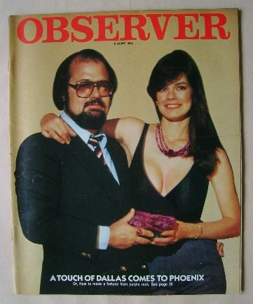 <!--1982-06-06-->The Observer magazine - Randy Polk cover (6 June 1982)