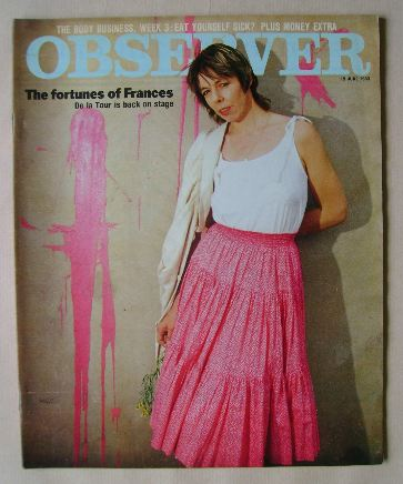 <!--1983-06-19-->The Observer magazine - Frances de la Tour cover (19 June