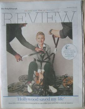 The Daily Telegraph Review newspaper supplement - 23 July 2016 - Ellen DeGeneres cover