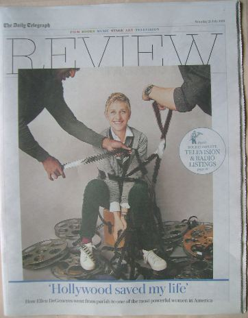 The Daily Telegraph Review newspaper supplement - 23 July 2016 - Ellen DeGe