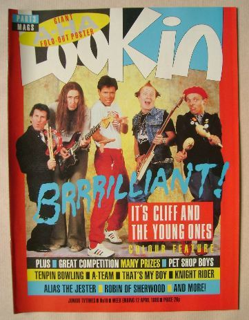 <!--1986-04-12-->Look In magazine - Cliff Richard and the Young Ones cover