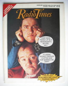Radio Times magazine - Mel Smith and Griff Rhys Jones cover (26 October - 1 November 1985)