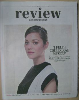 The Daily Telegraph Review newspaper supplement - 16 August 2014 - Marion Cotillard cover