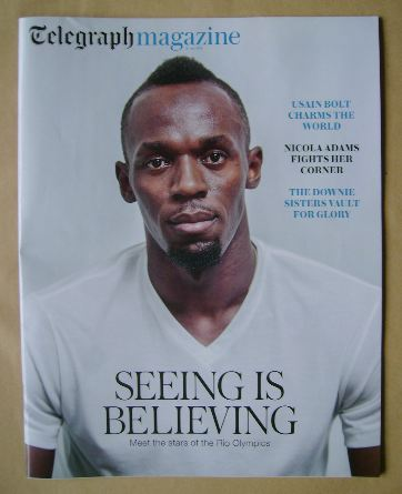 <!--2016-07-16-->Telegraph magazine - Usain Bolt cover (16 July 2016)