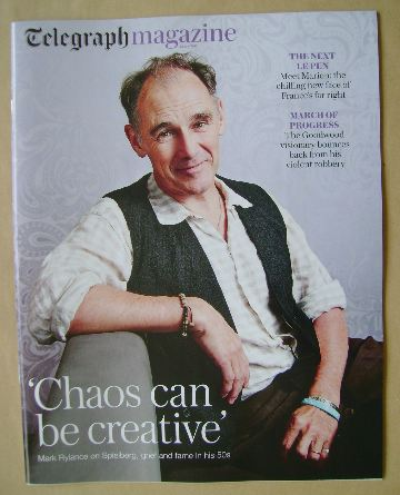 <!--2016-07-23-->Telegraph magazine - Mark Rylance cover (23 July 2016)