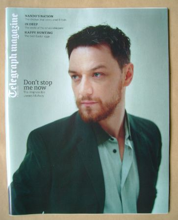 <!--2013-03-09-->Telegraph magazine - James McAvoy cover (9 March 2013)