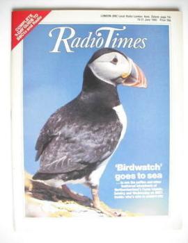 Radio Times magazine - Puffin cover (15-21 June 1985)