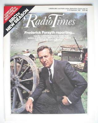 <!--1985-09-14-->Radio Times magazine - Frederick Forsyth cover (14-20 Sept