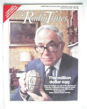 Radio Times magazine - The Million Dollar Egg cover (29 June - 5 July 1985)