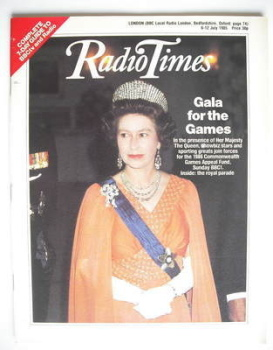 Radio Times magazine - Queen Elizabeth II cover (6-12 July 1985)