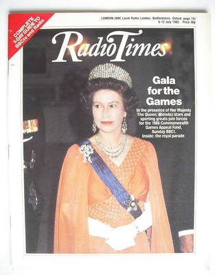 <!--1985-07-06-->Radio Times magazine - Queen Elizabeth II cover (6-12 July