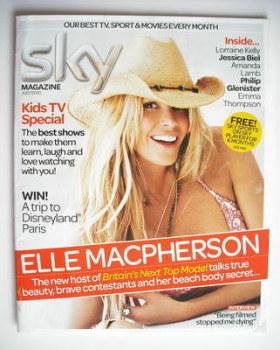 Sky TV magazine - July 2010 - Elle Macpherson cover