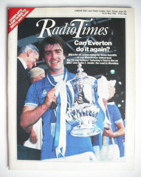 Radio Times magazine - Kevin Ratcliffe cover (18-24 May 1985)