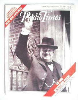 Radio Times magazine - Sir Winston Churchill cover (4-10 May 1985)