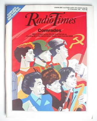 <!--1985-11-16-->Radio Times magazine - Comrades cover (16-22 November 1985