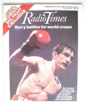 Radio Times magazine - Barry McGuigan cover (8-14 June 1985)