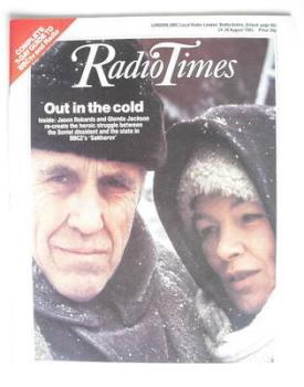 Radio Times magazine - Jason Robards and Glenda Jackson cover (24-30 August 1985)