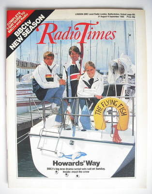 <!--1985-08-31-->Radio Times magazine - Howards' Way cover (31 August - 6 S