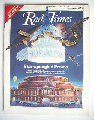 <!--1985-07-20-->Radio Times magazine - Star-Spangled Proms cover (20-26 Ju