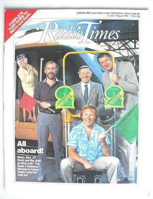 <!--1985-07-27-->Radio Times magazine - All Aboard cover (27 July - 2 Augus