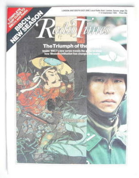 Radio Times magazine - The Triumph Of The West cover (7-13 September 1985)