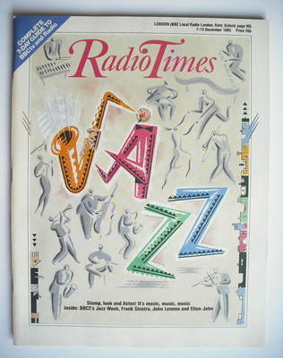 <!--1985-12-07-->Radio Times magazine - Jazz cover (7-13 December 1985)