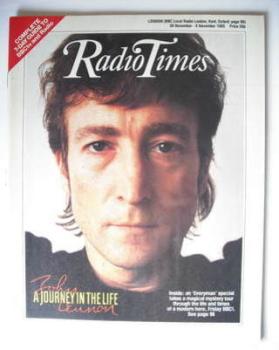 Radio Times magazine - John Lennon cover (30 November - 6 December 1985)