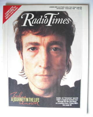 <!--1985-11-30-->Radio Times magazine - John Lennon cover (30 November - 6