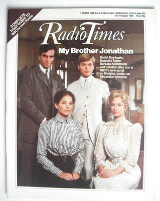 <!--1985-08-10-->Radio Times magazine - My Brother Jonathan cover (10-16 Au