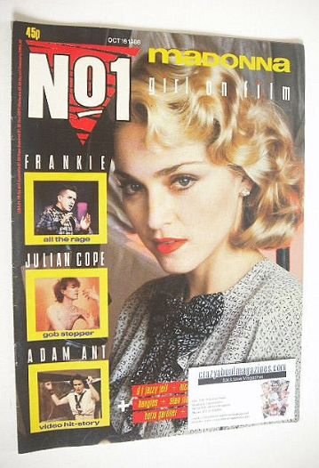 <!--1986-10-18-->No 1 magazine - Madonna cover (18 October 1986)