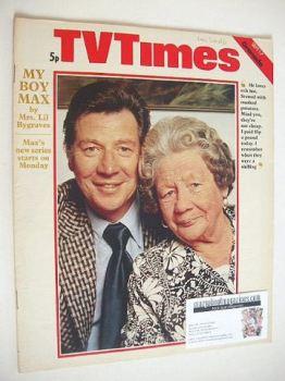 TV Times magazine - Max Bygraves cover (1-7 September 1973)