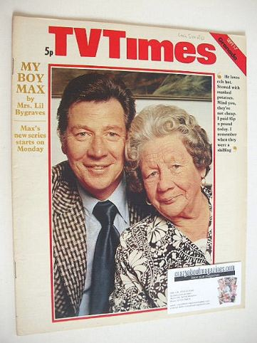 <!--1973-09-01-->TV Times magazine - Max Bygraves cover (1-7 September 1973