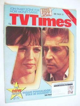 TV Times magazine - Frank Finlay and Susan Penhaligon cover (10-16 January 1976)