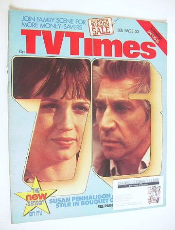 <!--1976-01-10-->TV Times magazine - Frank Finlay and Susan Penhaligon cove