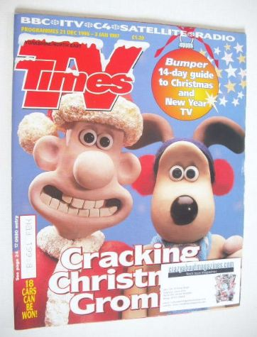 <!--1996-12-21-->TV Times magazine - Wallace and Gromit cover (21 December