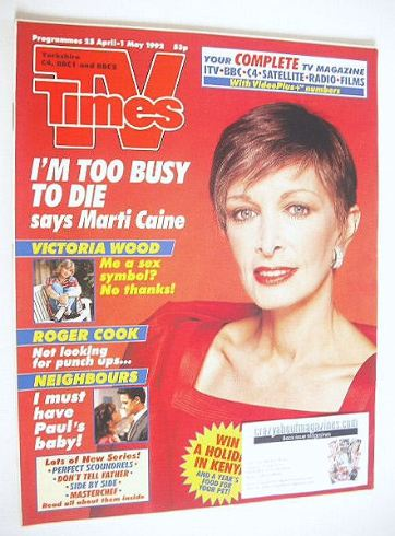 <!--1992-04-25-->TV Times magazine - Victoria Wood cover (25 April-1 May 19