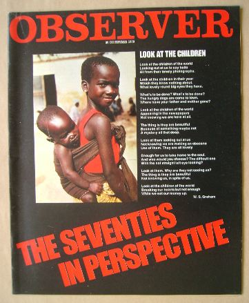 <!--1979-12-30-->The Observer magazine - The Seventies In Perspective cover
